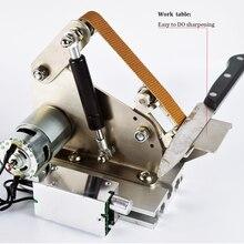 Professional кухня Открытый Ножи Шлифовальные песок ремень Apex точилка Металл Мини абразивные Ремни машины 100 Вт Электрический двигатель
