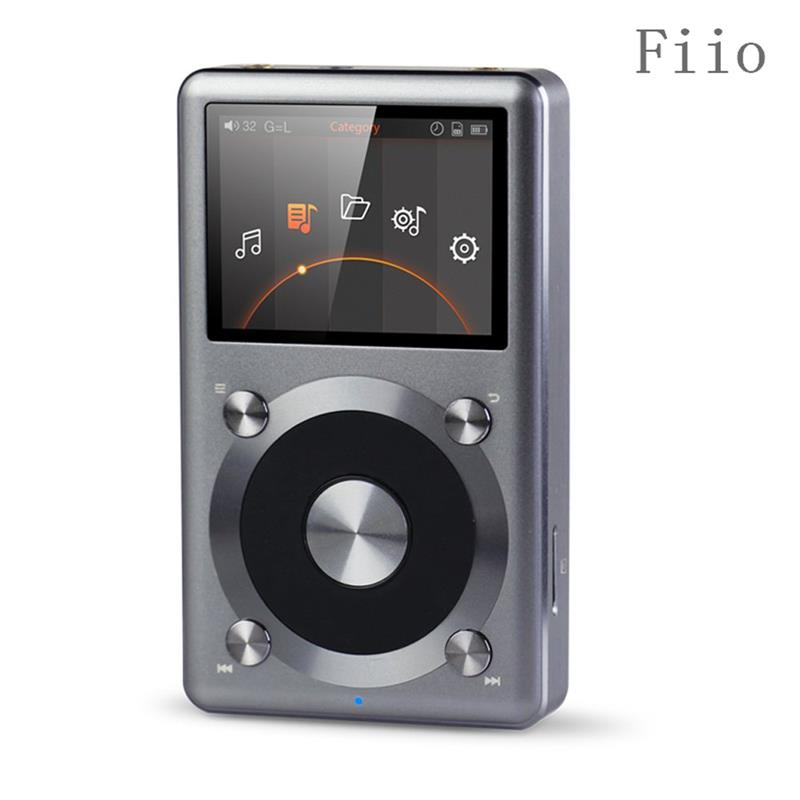Original fiio X3 2nd gen / X3 II / X3K Native DSD Decoding 192k Hz / 24bit Hifi MP3 Music Player High Power Output Gray