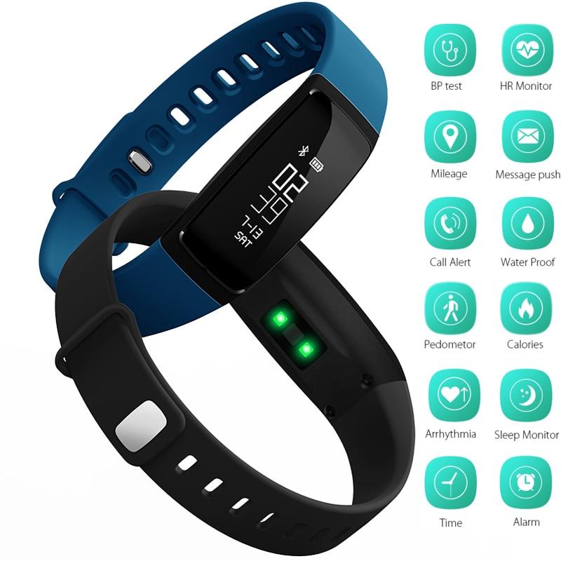 imágenes para Bluetooth Pulsera inteligente Inteligente Banda V07 Relojes Presión Arterial Heart Rate Monitor Podómetro Fintess Perseguidor SMS Recordatorio de Llamada