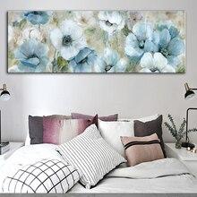 Цветы Масляные картины печать на холсте абстрактные настенные плакаты и принты Акварельные Цветы настенные картины для гостиной Куадрос