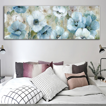 2015 special offer direct selling freeshipping no 50x50 oil square cuadros wall pictures for living room quadros high quality 35 Flowers Oil Paintings Print On Canvas Abstract Wall Posters And Prints Watercolor Flowers Wall Pictures For Living Room Cuadros