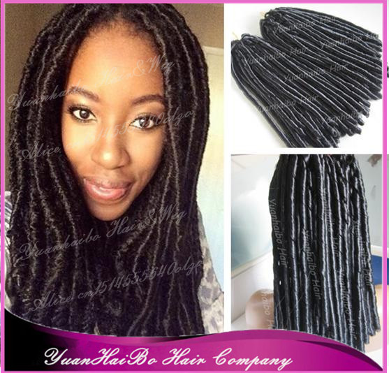 "New Stock! 15"" fold #1 jet black Faux Dreads synthetic ...