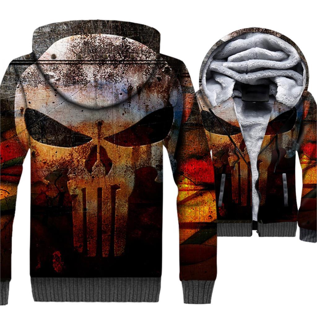 2019 winter thick jackets men Hip Hop sportswear coats zip keep warm wool liner hoodies the harajuku 3D print sweatshirt clothes