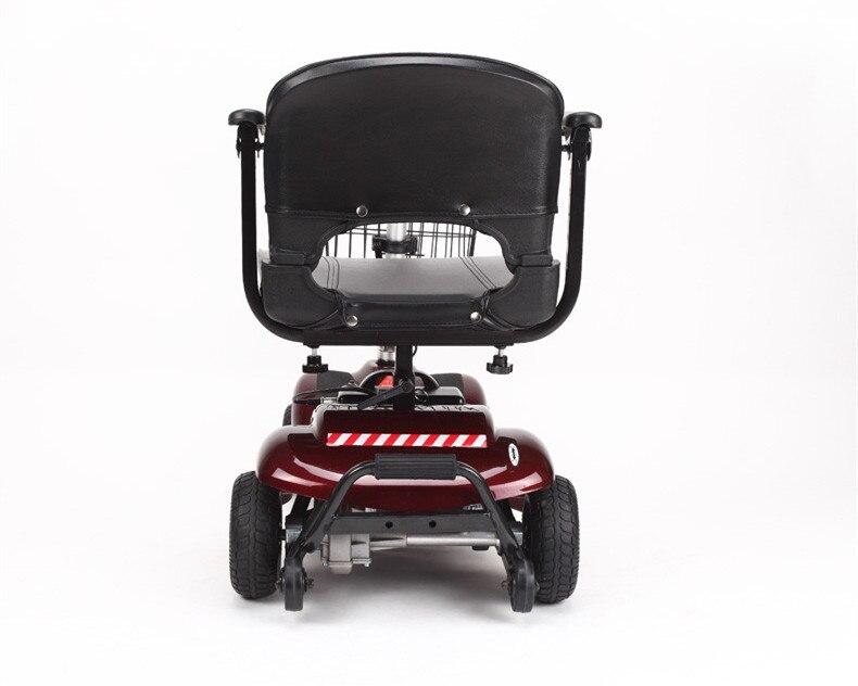 Mutifunctional Pliant Adulte Électrique Scooter Avec Panier Quatre Roues Citycoco - 4