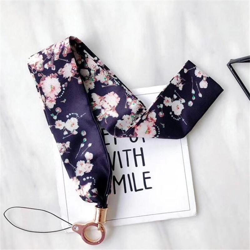 Paski na telefon kwiat łańcuszek do telefonu smycz długi identyfikator karty klucz kamera usb MP3 wiszące odznaki klucz szalik smycz na szyję telefonu