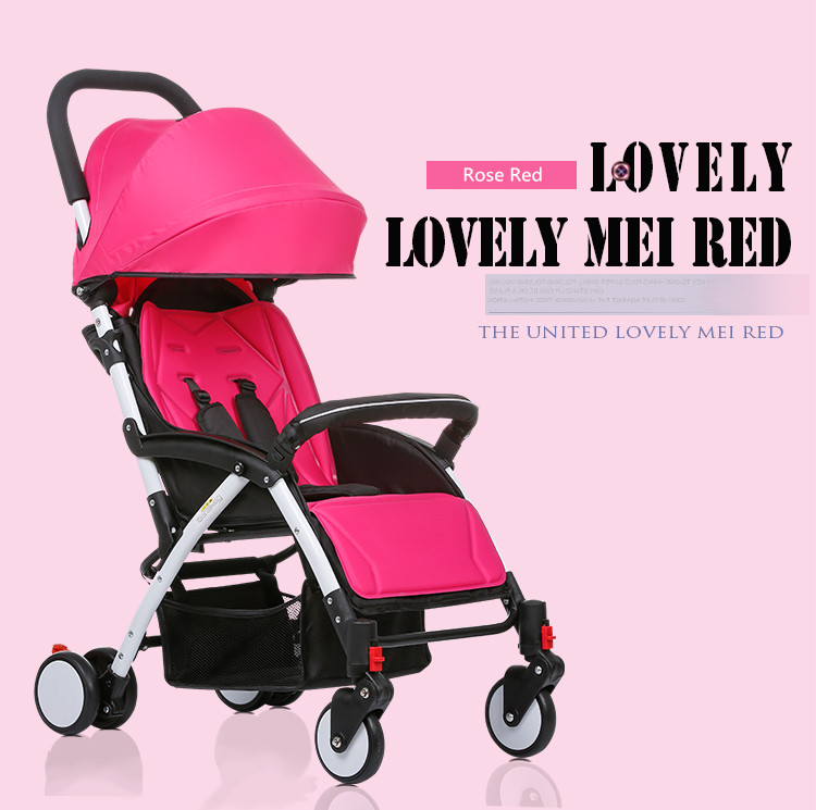 Upgrade mini Baby Stroller Travel System small Pushchair infant carriage flod