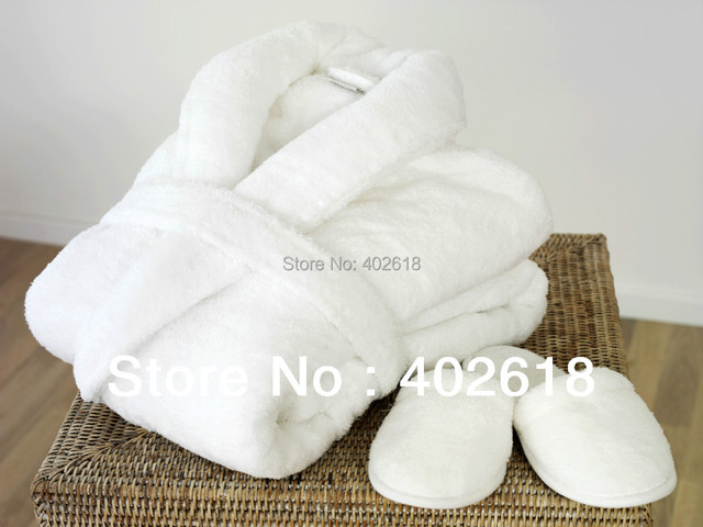 1 Set/Lot) Bathrobe, Men Robe women, Dressing Gown, Ivory Color ...