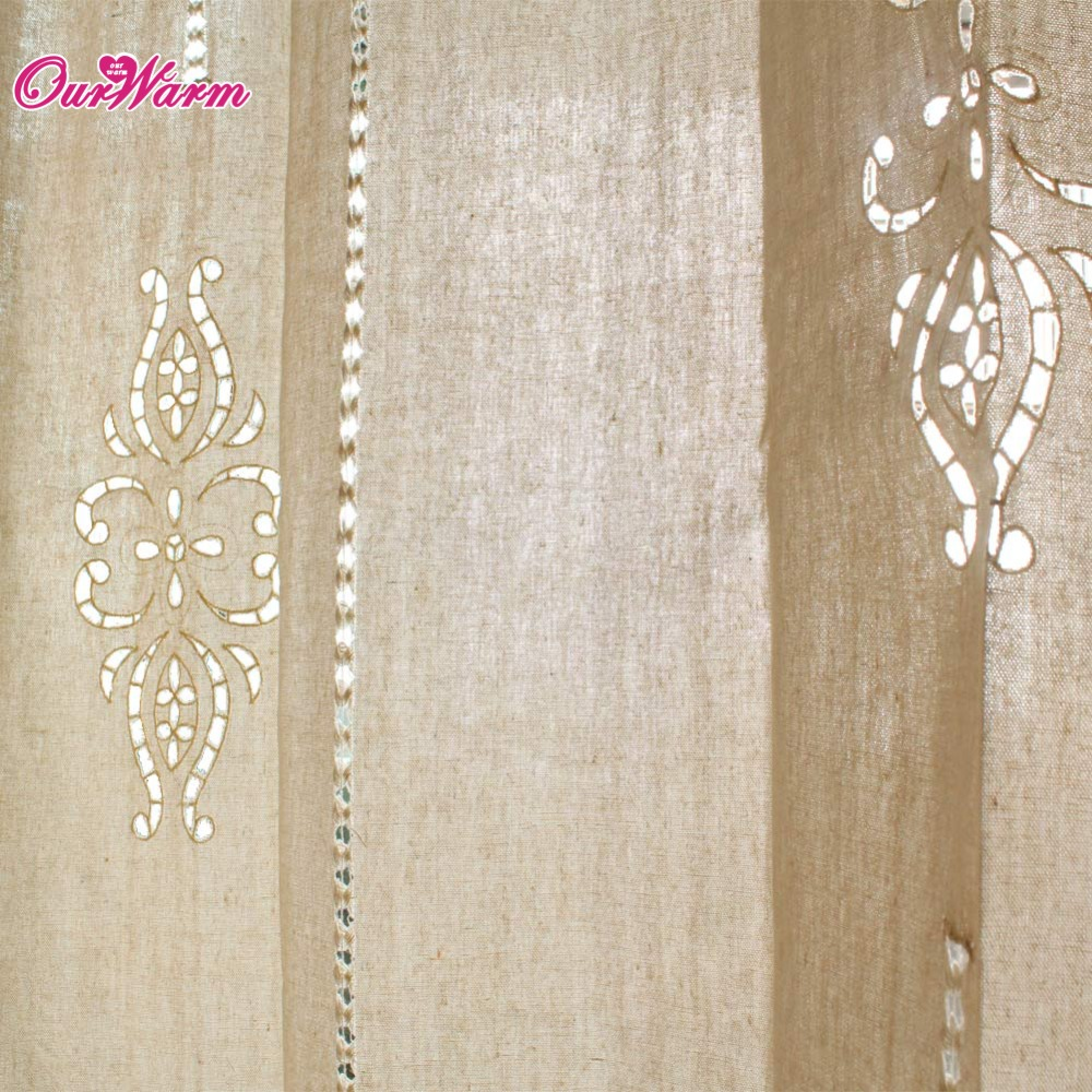 Cortinas pestaña Superior Lino cortina Crochet 1,8 cm anchura cenefa ...