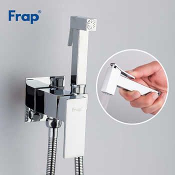 FRAP New Arrival Chrome Bidets Bathroom Toilet Sprayer muslim Shower Bidet Tap Hygienic Shower Wall Mount Shattafs Faucets F7506 - DISCOUNT ITEM  49% OFF All Category