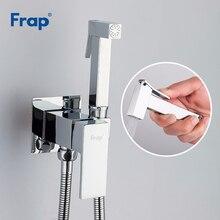 FRAP pulvérisateur de toilettes en laiton chromé, robinet de Bidet de salle de bains, douche musulmane, robinets de Bidet de douche hygiénique, robinets muraux de douche F7506
