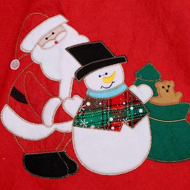 Christmas Santa Claus Tree Skirt Embroidery Decoration Ornaments Xmas Tree Apron Gift Happy New Year Scene Supplies GI890746