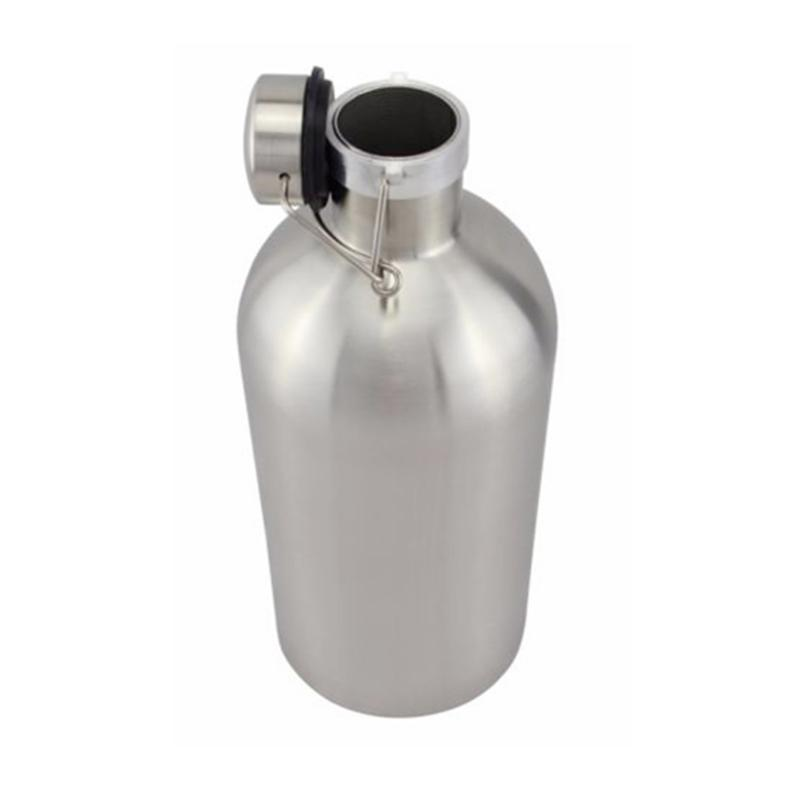 32 Oz 1L 304 Stainless Steel Beer Growler Bottle With Swing Top For Homebrew Barware