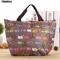 TEMENA oxford Picnic Thermal Bag  lunch bags for women ancheira Food Cooler Bags Thermal Women Handbag bolso termica BLB006B