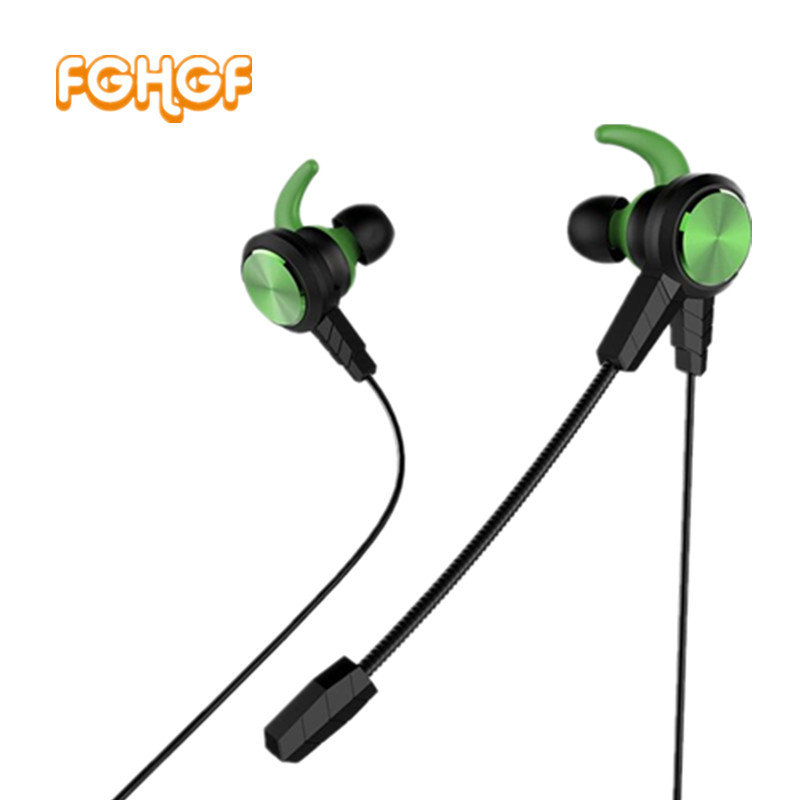 FGHGF FG30 PC Gaming Headset With Long Microphone In Ear Stereo Bass Noise Cancelling Earphone For Phone Computer Notebook