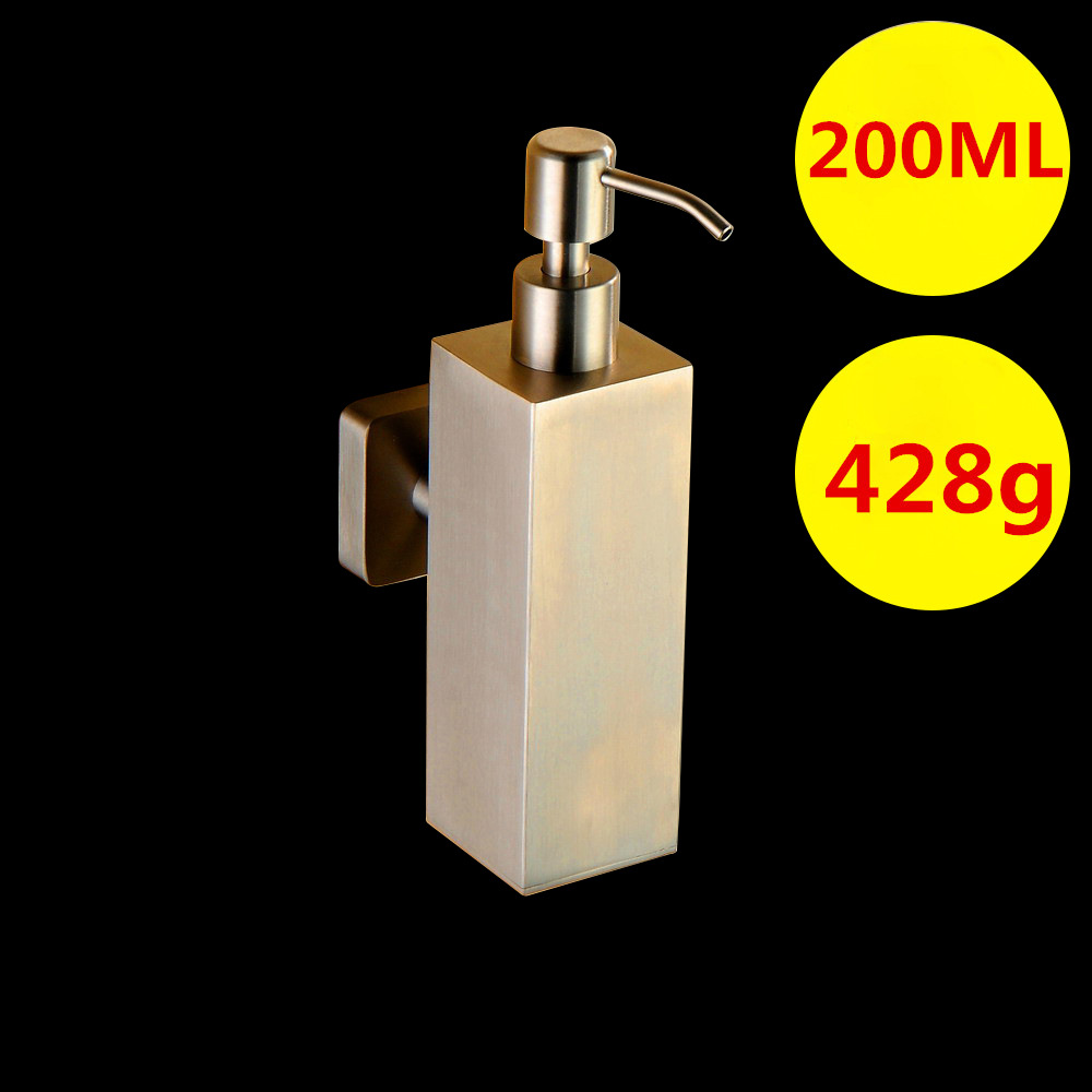 Bathroom Hardware Sets Soap Dispenser 304 Stainless Steel 200ML Liquid Soap Box Liquid Soap Bottle Brushed Bathroom Accessories sayoon dc 6v contactor czwt150a contactor with switching phase small volume large load capacity long service life