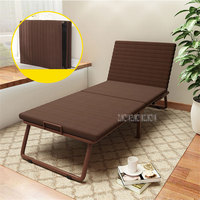 Folding Bed With Mattress Bedroom Furniture Simple Bed Office Nap Lunch Beach Chair Lounge 6 Gear Adjustment Camp Bed Cot
