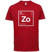 ZOE Periodic Element - Mens T-Shirt Geeky / Chemistry  s Print T Shirt Short Sleeve Hot Tops Tshirt Homme freeshipping