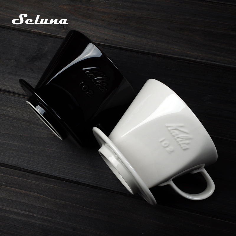 101/102 Cone Filtro de Café Por Gotejamento Gotejador Café Cerâmica Mão V60 Despeje Sobre máquina de Café Por Gotejamento Cafeteira Filtro Permanente