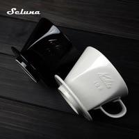 101/102 cone dripper de café cerâmica mão gotejamento filtro de café v60 permanente cervejeiro de café despeje sobre máquina de café filtro de gotejamento Filtros de café     -