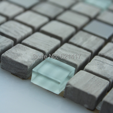 STUNNING Stainless Steel/Glass/Natural marble stone Mosaic <font><b>Tiles</b></font> on Mesh, wall <font><b>tiles</b></font>, Free Shipping,floor <font><b>tiles</b></font>
