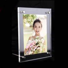 ФОТО GT3160-10inch Acrylic Plastic Picture Display Frame 10x8 Modern  Transparency Effect Photo Holder Plexiglass Photo Frame