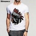 2016 nueva moda de algodón Indio imprimir casual camiseta de los hombres de los hombres fresco hombre de manga corta t-shirt hombre Enemigo más tamaño Scc990