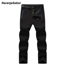 NaranjaSabor 5XL 2019 Winter Waterproof Jogger's Thick Trousers Warm Inside Fleece