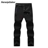 NaranjaSabor 5XL 2017 Men S Winter Pants Waterproof Trekking Mens Thick Trousers Warm Inside Fleece Pants
