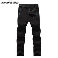 NaranjaSabor 5XL 2019 font b Men s b font Winter Pants Waterproof Jogger s font b
