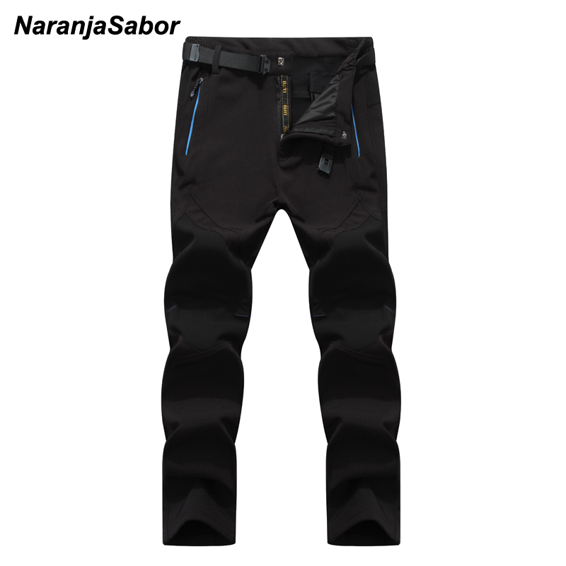 NaranjaSabor 5XL 2019 Men's Winter Pants Waterproof Jogger's Men's Thick Trousers Warm Inside Fleece Pants Men Male Casual Pants