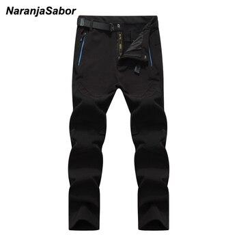 NaranjaSabor 5XL 2020 Men s Winter Pants Waterproof Jogger s Men s Thick Trousers Warm Inside