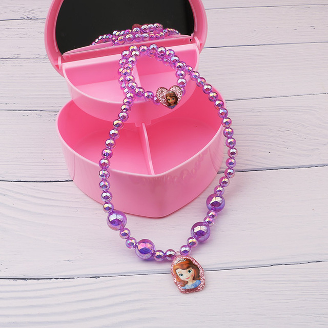 2019 new Baby  Girls jewelry necklace Elsa anna hello kitty Children beads accessories princess new style  Elsa pendant necklace