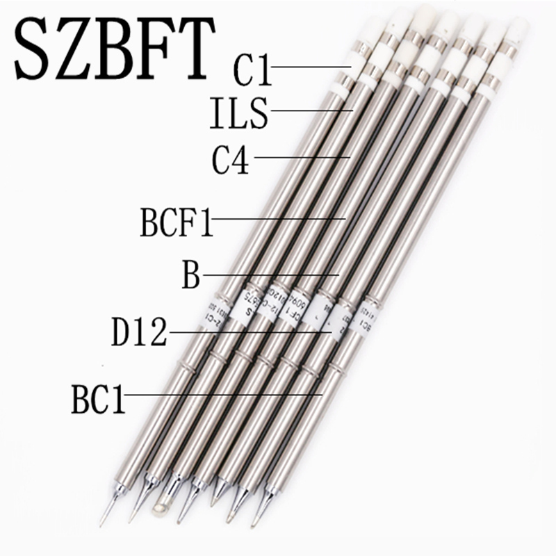 SZBFT soldering tips t12 for hakko T12-ILS C4 BCF1 B D12 BC1 C1  iron tips soldering stings  For FX-950/FX-951 free shipping
