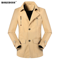 ROKEDISS 2017 Mens Green Khaki 3 Colors Military Jacket Winter Casual Man Jackets Army Clothes Brand