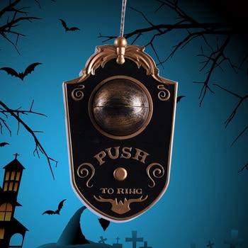 Creative Doorbell Light Up Door Decorations Eyeball Party Doorbell Prop For Halloween Haunted House Party easter decoration 1