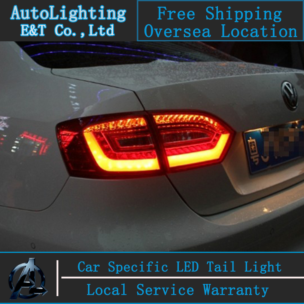 Car Styling Jetta MK6 tail lights 2011-2014 For VW Jetta led tail light Volks Wagen drl rear lamp cover signal+brake+reverse car styling tail lamp for vw jetta 2011 2014 tail lights led tail light rear lamp led drl brake park signal stop lamp