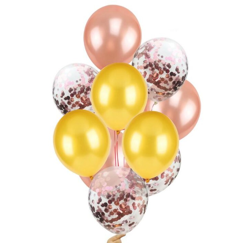Confetti Balloons 10pcs 12inch rose gold balloon Rose Gold Champagne Balloon Decoration Anniversaire Party