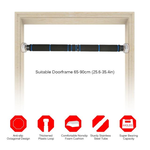 adjustable doorway horizontal pullup bar nonslip pull up bar wall home chin