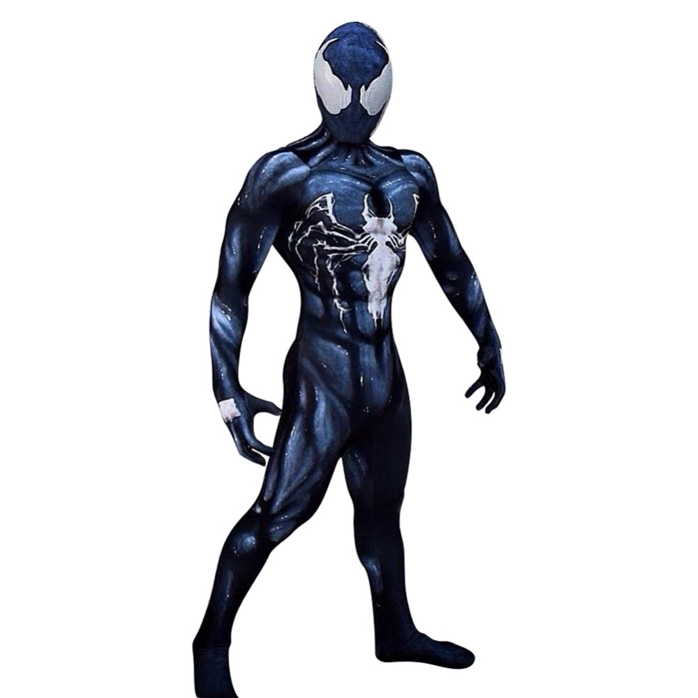 Hot Venom Symbiote Costume Spider-Man Adult Kids Fancy Dress Cosplay Outfit