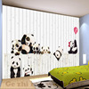 Custom 3D Cartoon Lovely Panda Mural Wallpaper For children Room