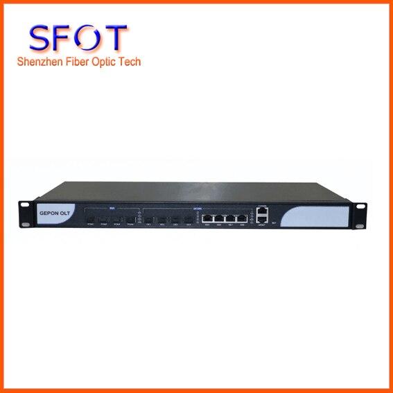 4 Porta PON EPON OLT attrezzature, 4 porte di uplink, Optical Line Terminal, con 4 pz modulo SFP.4 Porta PON EPON OLT attrezzature, 4 porte di uplink, Optical Line Terminal, con 4 pz modulo SFP.