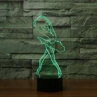 Cute Ballerina Night Light 3D Ballet Girl LED Table Lamp For Children Kids Gift Christmas Indoor