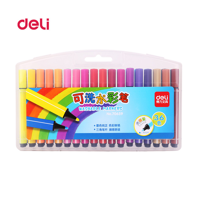 deli 36 pcs set caneta cor da agua de belas artes pintura profissional pen canetas aquarela