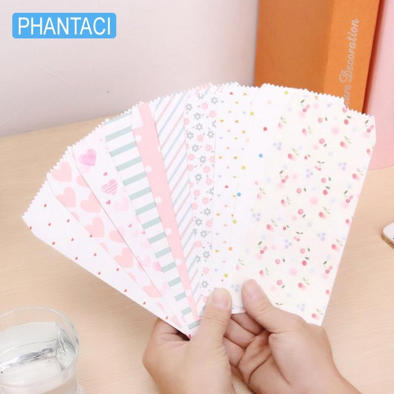 10 Pcs/lot Korean Romantic Stationery Envelope Cute Dots Love Flower Fresh Paper DIY Tool Greeting Card Cover Scrapbooking Gift