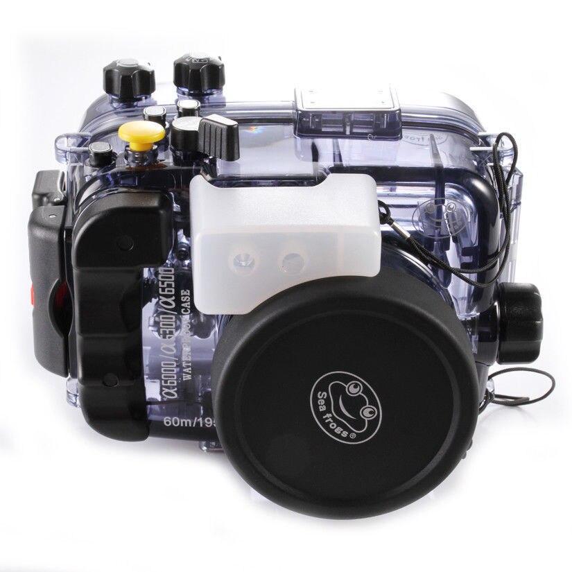 130ft 40 mt Wasserdicht Unterwasser Tauchen Gehäuse Case Tasche für Sony alpha A6000 A6300 A6500 ILCE-6000 Kamera Zubehör