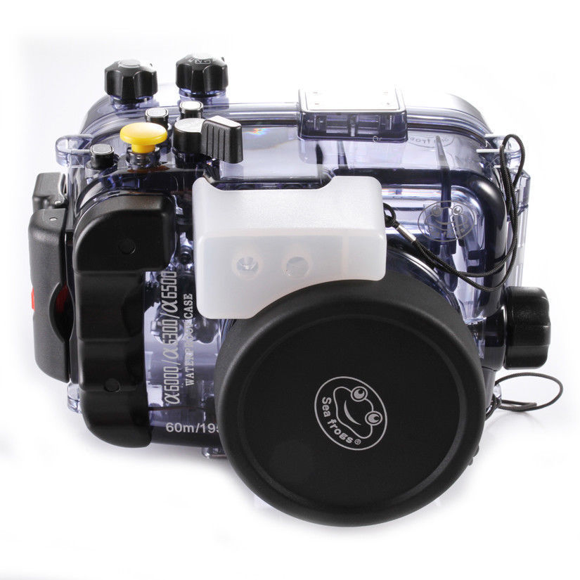 130ft 40M Waterproof Underwater Diving Housing Case Bag for Sony alpha A6000 A6300 A6500 ILCE-6000 Camera Accessories meikon 40m wp dc44 waterproof underwater housing case 40m 130ft for canon g1x camera 18 as wp dc44