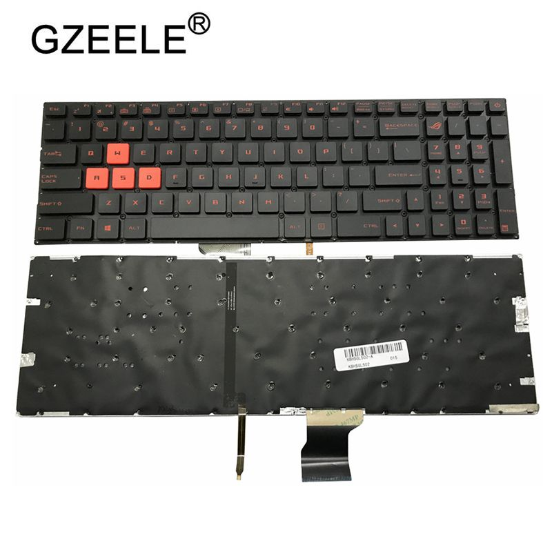 GZEELE US Laptop Backlit Keyboard For ASUS GL502 GL502V GL502VT GL502VS GL502VM GL502VY US BACKLIT Standard English Layout