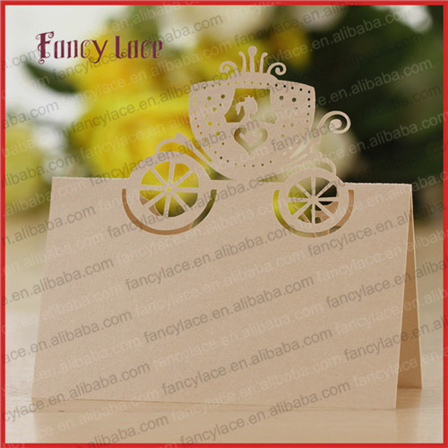 50pcs New Arrival Laser Princess Wedding Sedans Place Cards Table Decoration Invitation Cards For Family Party Event Supplies