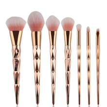 7pcs Women Makeup Brushes Sets Spiral Handle Cosmetic Foundation Eyebrow Lip Brush Tool