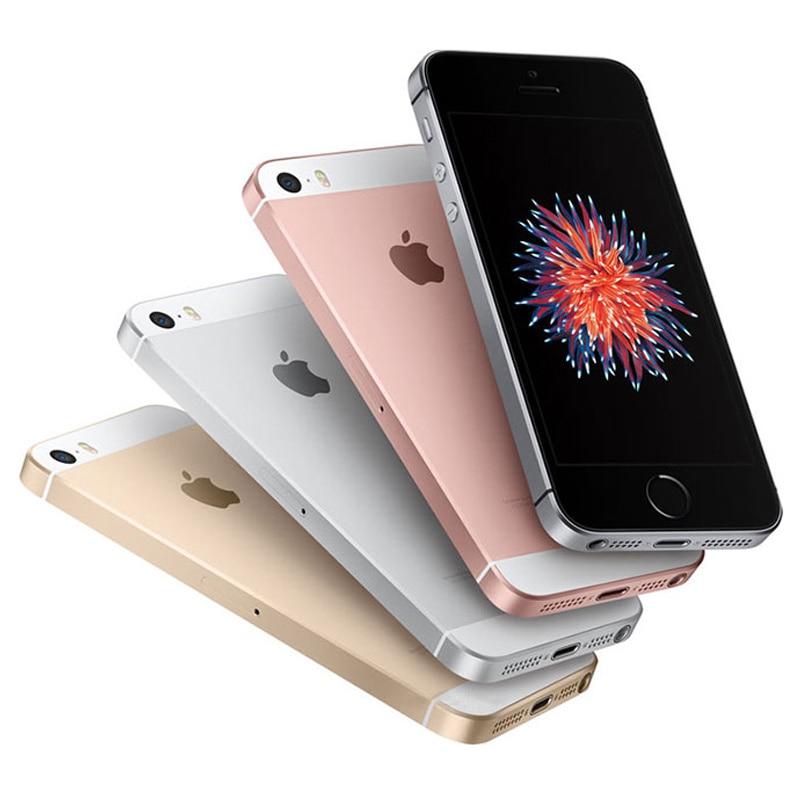 Разблокированный Apple iPhone SE, определение отпечатка пальца двухъядерный 4 аппарат не привязан к оператору сотовой связи смартфон герметичный 2 Гб Оперативная память 16/64GB Встроенная память за счет сканера отпечатков пальцев мобильного телефона